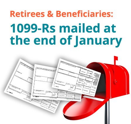 1099Rs mailed at the end of January