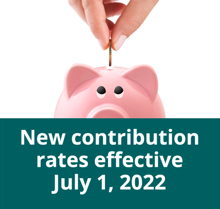 New contribution rates effective July 1, 2019