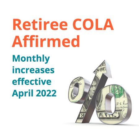 Retiree COLA affirmed