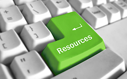 Keyboard with resources button